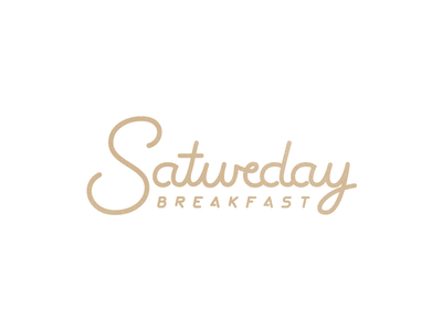 Saturday Breakfast class monoline lettering food breakfast saturday