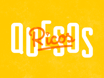 RQ Googie Style food logo cheese quesos ricos lettering typography googies googie