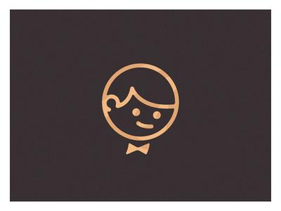 Elegance is everything bronce gold stroke simple logo kid boy smoking carpet red elegance