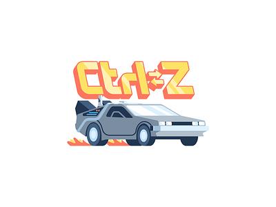 Ctrl➭Z: iOS free sticker pack movie car free ios pack sticker cmd z control delorean future back