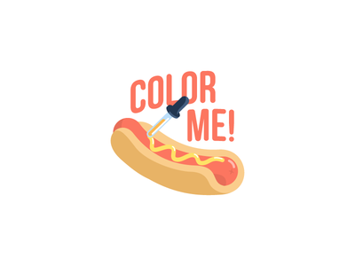Color me!: iOS free sticker pack free pack ios sticker mustard sausage eyedropper picker color food hot dog