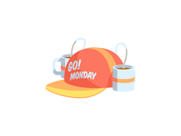 Go! Monday: iOS free sticker pack