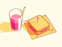 Dribbble sandwich 2