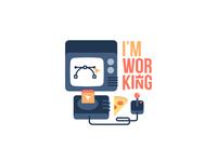 I'm working: iOS free sticker pack