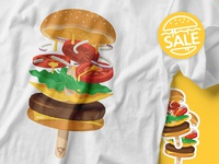 [Sale & Free Shipping] Summerburger Tees & Stickers