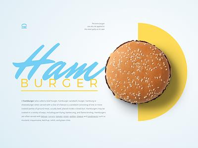 Hamburger UI experiment icon bread bun ham web food typography burger hamburger ui