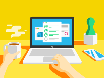 Clara: Your Refinance Checklist screen windows hands plant phone iphone coffee flat desk macbook checklist refinance