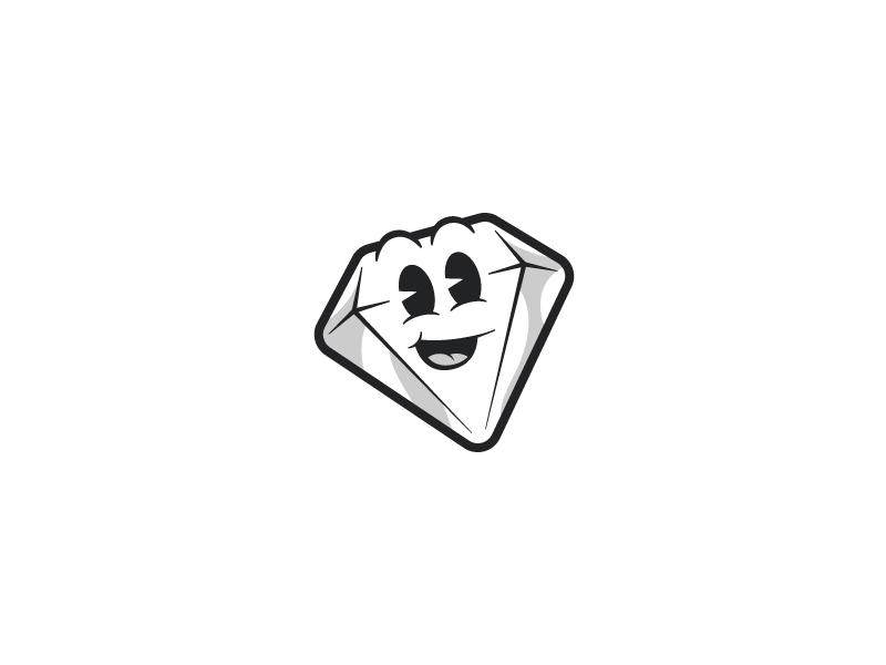 Little Sketch vintage retro diamond icon illustration sticker disney cartoon happy logo sketch