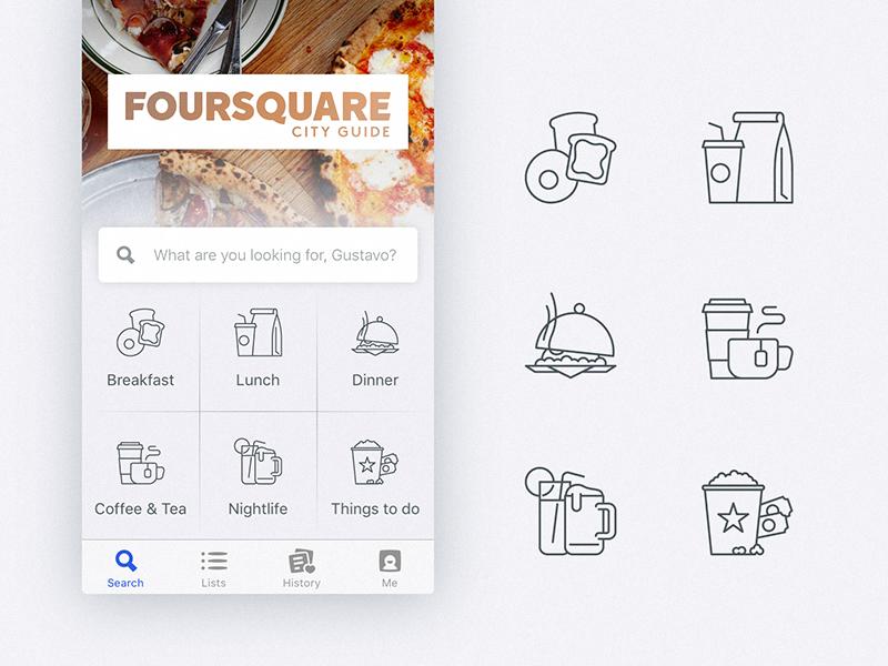 Foursquare Home Screen Icons