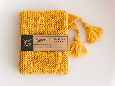 Cone Co. new strip print brand rabbit bunny craft winter scarf knitting knit packaging strip