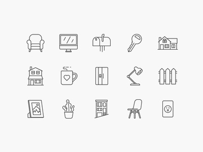 Clara: Home Icons for Pattern