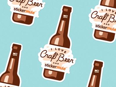 I Love Craft Beer & Sticker Mule
