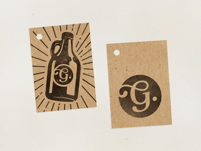 Gobragh: Tags brand bootle illustration handcraft growler label brewing brewery beer
