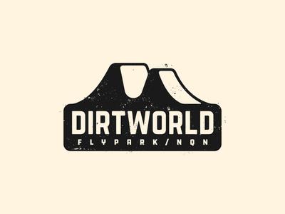 Dirt World Flypark v2 fly park bicycle logo jump argentina sticker badge world bmx dirt