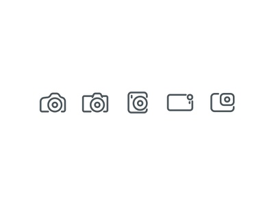 Camera Icons simple stroke icons iconography lens phone instax gopro reflex dslr camera
