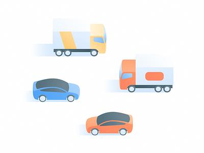 Cars & Trucks electric cargo vehicle city gradient moving tesla truck car