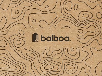Balboa. design icon notebook name pattern topography paper craft brand logo