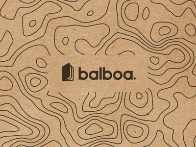 Balboa. design icon notebook name pattern topography paper craft brand logo