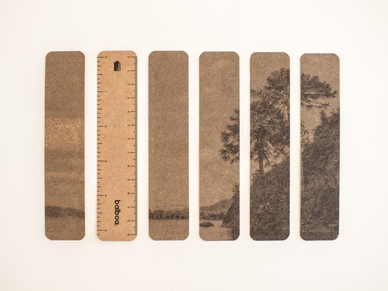 Balboa: Patagonia ruler illustration photo paper craft print stationery stationary ruler patagonia