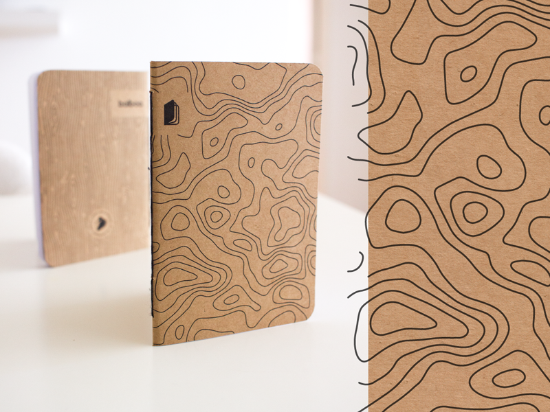 Balboa: Topography Pattern branding brand texture photography paper craft handcraft handmade notebook pattern topography