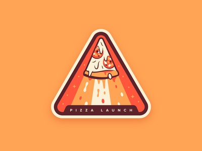 Pizza Launch 🍕 triangle cheese pepperoni food slice pizza badge space