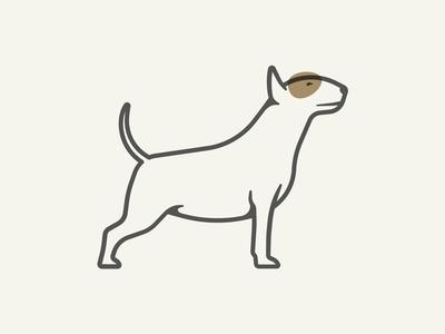 Bull Terrier illustration animal shadow stroke pet doggo dog terrier bull