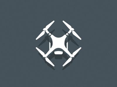 Drone phantom video illustration geometric light shadow fly drone
