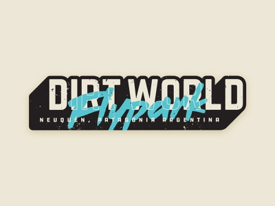 Dirt World Flypark Sticker argentina patagonia sticker lettering typography logo bicycle mtb bmx jump dirt