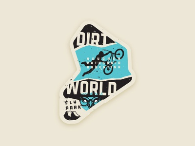 Dirt World Flypark Sticker superman rust sticker extreme freestyle owl sport bmx jump dirt neuquen argentina