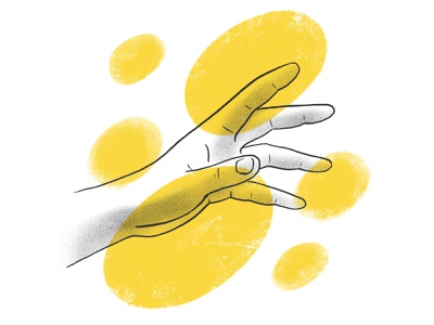 IDK shadow brush yellow handmade illustration procreate ipad pro hand