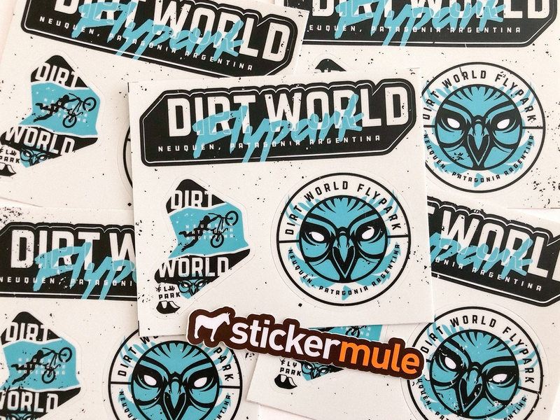 DWFP Stickers by Sticker Mule stickermule badge bicycle bike extreme argentina stickers brand logo sport bmx jump dirt
