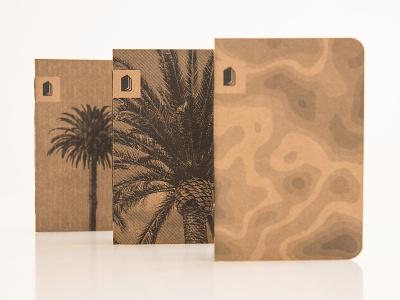 Summer in Balboa. argentina black and white print stationery beach california tree topography photography handcraft handmade notebok palm summer