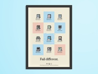Fail Different - Free Poster