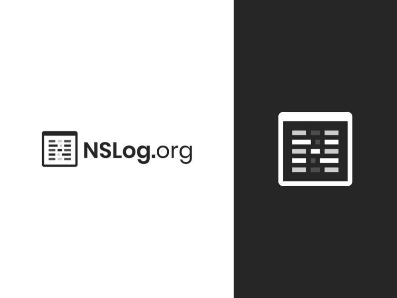 NSLog.org Logo terminal new blog ios code window black and white brand logo