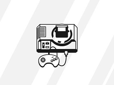 Sega Genesis shadows lights gamepad joystick 1990 90s gamer game video games icon vintage retro console genesis sega