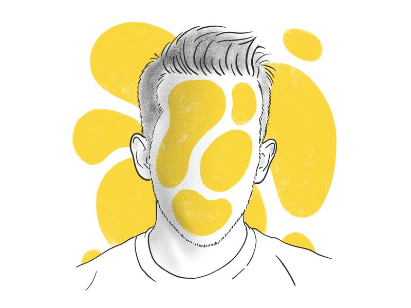 Me, mories draw yellow head handdrawing hair boy man face illustration ipad pro procreate portrait