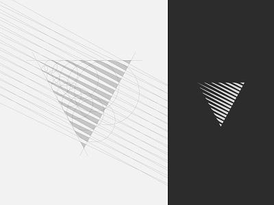 Vault Media Group grid construction triangle light gradient geometric brand v grid logo