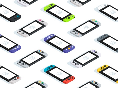 Color Heritage Pattern pattern shadow light illustration isometric handheld video games gamer game vintage retro console switch nintendo