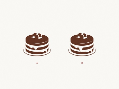 Bernardino: A or B? simple sweet fruit illustration poll brand cakery food cake icon logo
