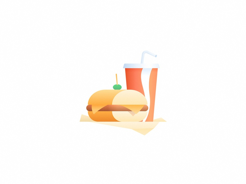 El Sanguche argentina simple cheese cup gradient illustration icon soda coke drink milanesa sandwich fast food