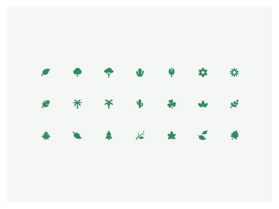 Botanical mini iconography
