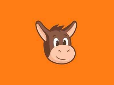 Herman sticker sticker mule illustration head face happy cute mascot character animal mule