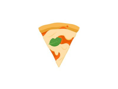 SuperSlice s sauce tomato simple cheese basil margarita flat illustration food slice pizza