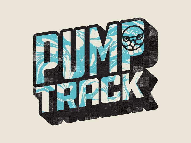 DWFP Pump Track vintage retro sport bike bycicle texture lettering track pump bmx dirt