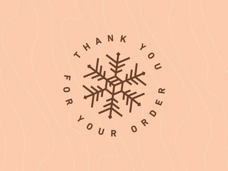 Thank you ❄︎ holidays christmas wood mule sticker thanks order snowflake snow icon delivery box post stamp badge
