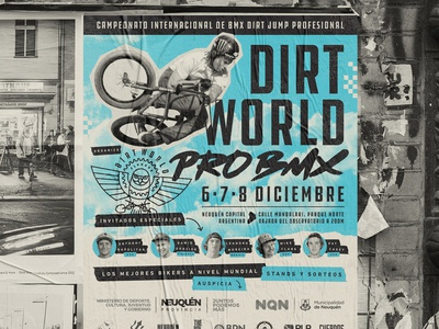 Dirt World Pro BMX urban poster