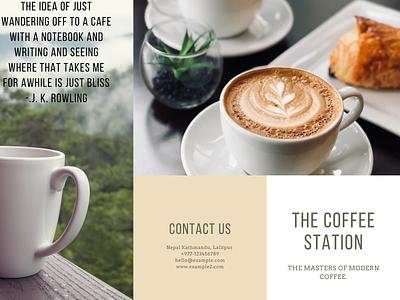 Café Brochure Example pg. 1 icon vector logo illustration design branding