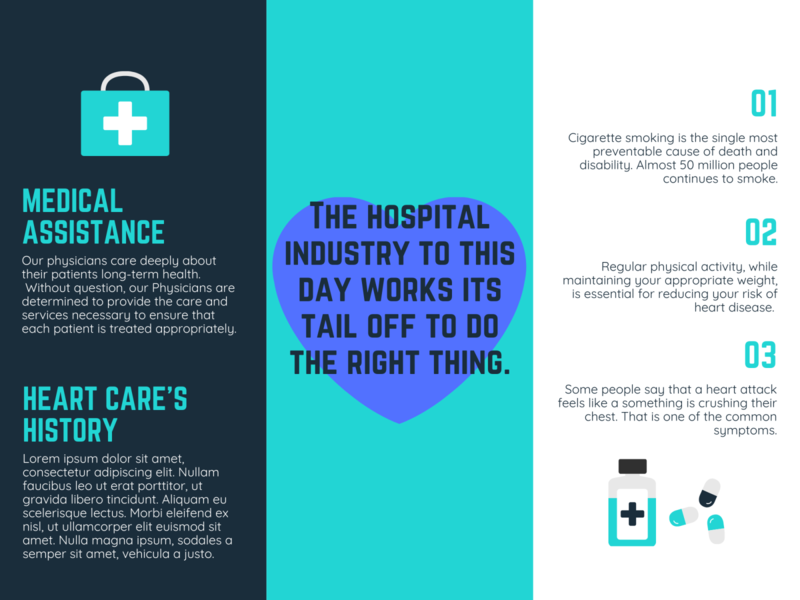 Hospital Brouchre Example pg 2 illustrator graphic design art icon vector logo illustration design branding
