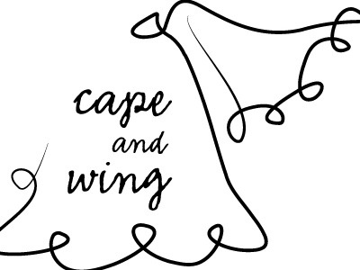 Cape And Wing logo idea wip logo illustrator