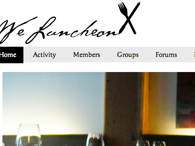We Luncheon website screenshot buddypress wordpress